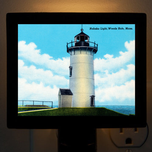 Falmouth MA - Woods Hole  Nobska Light Night Light - That Fabled Shore Home Decor