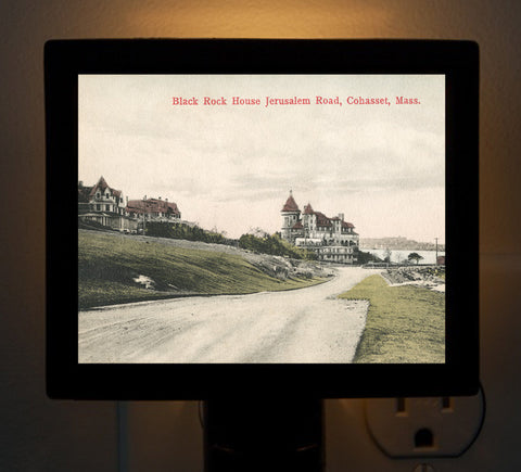 Cohasset, MA - Black Rock House, Jerusalem Road Circa 1900 Night Light