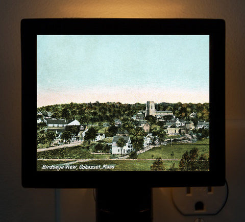 Cohasset, MA - Early Birdseye View Night Light - That Fabled Shore Home Decor