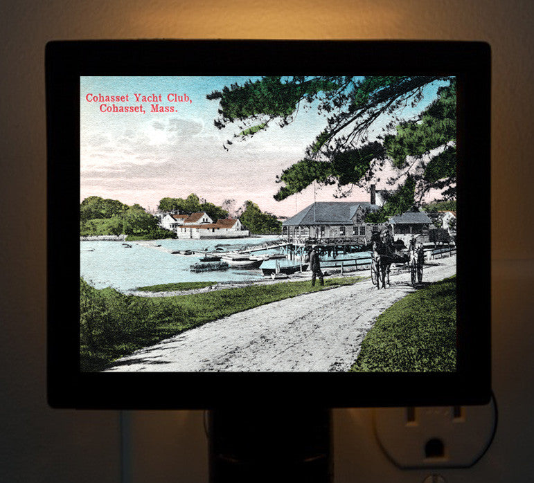 Cohasset, MA Yacht Club - Circa 1900 Night Light - That Fabled Shore Home Decor