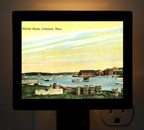 Harbor Sunset Cohasset, MA - Circa 1890 Night Light