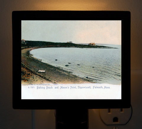 Falmouth - Sippewissett Beach and Mason's Point Night Light - That Fabled Shore Home Decor