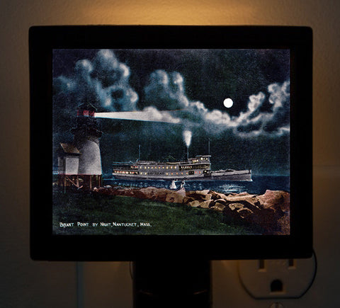 Nantucket - Brant Point by Night - That Fabled Shore Home Decor