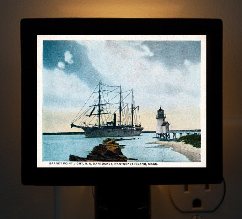 Nantucket - Brant Point Light, USS Nantucket Night Light - That Fabled Shore Home Decor