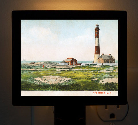 NY - Fire Island Light by Day Night Light