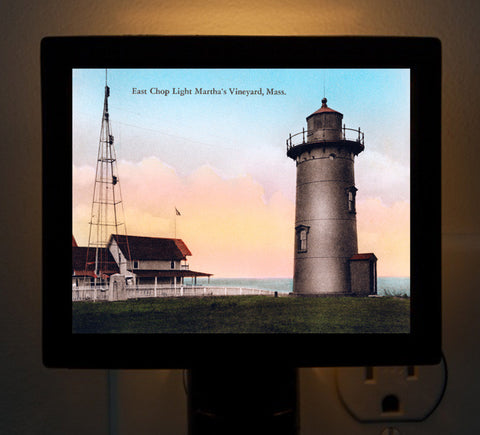 East Chop Light Oak Bluffs Martha's Vineyard Night Light - That Fabled Shore Home Decor