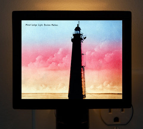 Minot Light - Pink Sunrise Night Light - That Fabled Shore Home Decor