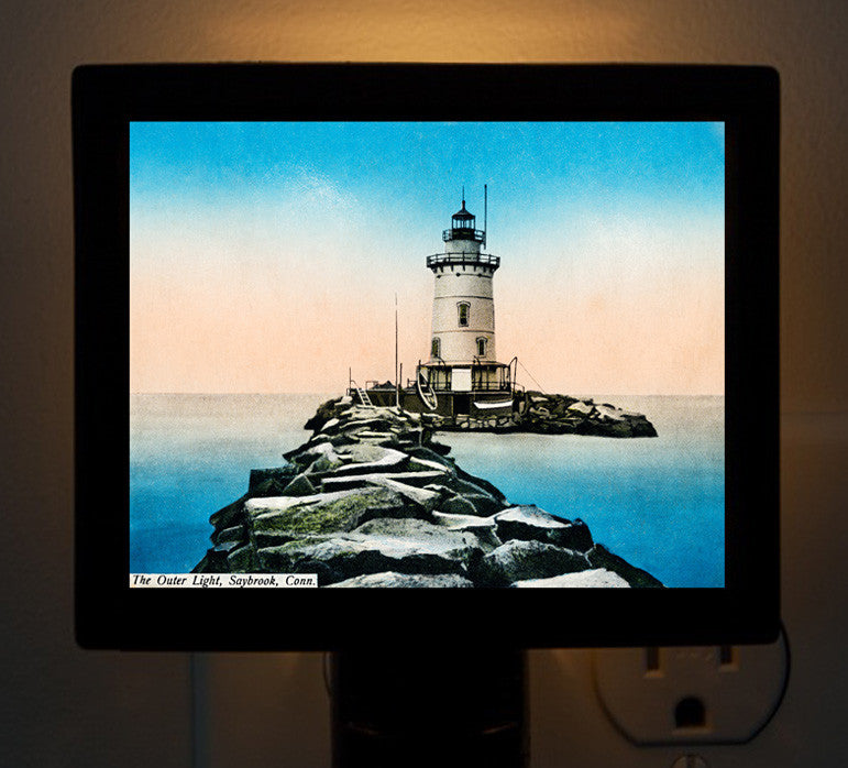 CT - Saybrook The Outer Light Night Light - That Fabled Shore Home Decor