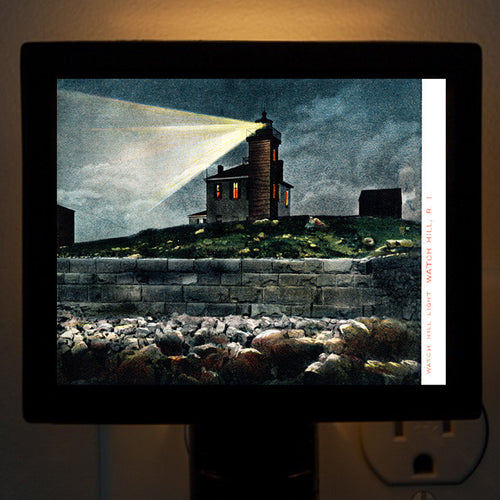 Watch Hill RI - Watch Hill Lighthouse Night Light - That Fabled Shore Home Decor