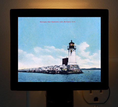CT - Stonington West Breakwater Light Night Light