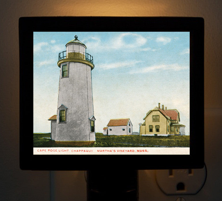 Martha's Vineyard - Cape Pogue Light Night Light - That Fabled Shore Home Decor