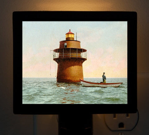 Duxbury Pier Lighthouse Night Light - That Fabled Shore Home Decor