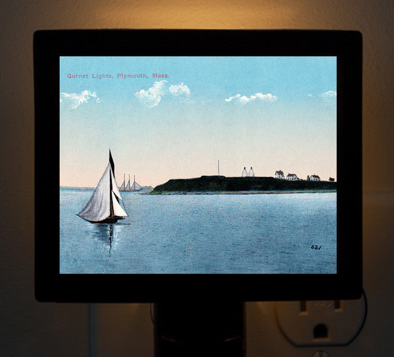 Plymouth - Gurnet Light 2 Night Light - That Fabled Shore Home Decor