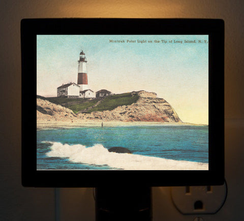 NY - Montauk Point Light Night Light - That Fabled Shore Home Decor