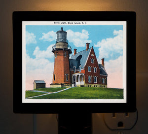 RI - Block Island, Southeast Light Night Light - That Fabled Shore Home Decor