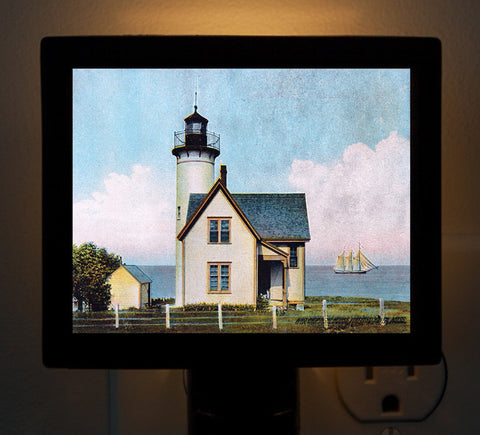 Vineyard Haven - West Chop Light (2) Night Light