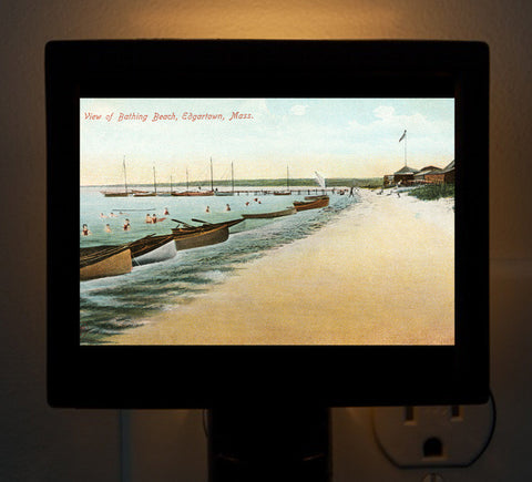 Edgartown - Bathing Beach Night Light - That Fabled Shore Home Decor
