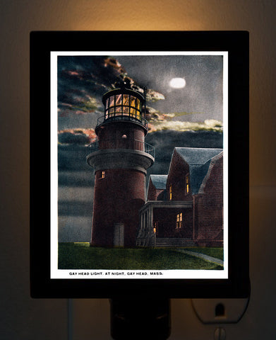 Gay Head Light at Night - Aquinnah, MA Night Light - That Fabled Shore Home Decor