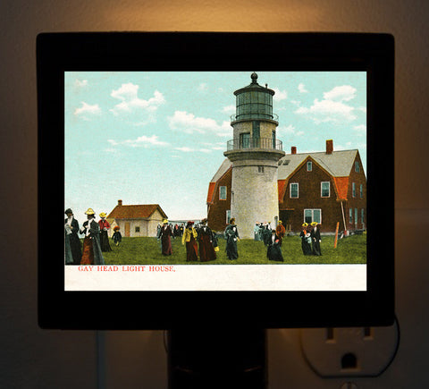 Gay Head Light Aquinnah, MA Night Light - That Fabled Shore Home Decor