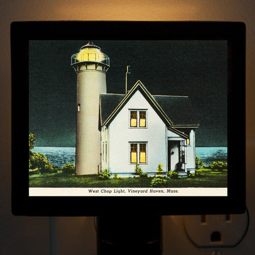 Vineyard Haven - West Chop Light Night Light - That Fabled Shore Home Decor