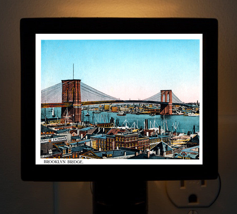 NY - The Brooklyn Bridge Night Light - That Fabled Shore Home Decor