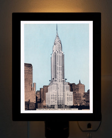 Chrysler Building New York City Night Light - That Fabled Shore Home Decor
