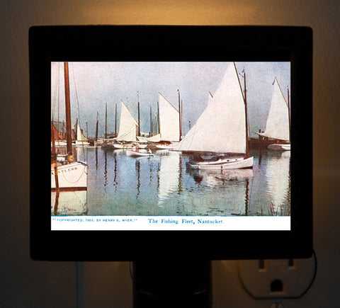 Nantucket - Fishing Fleet - Circa 1890 Night Light