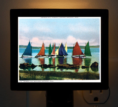 Nantucket - Rainbow Fleet (2) Night Light - That Fabled Shore Home Decor