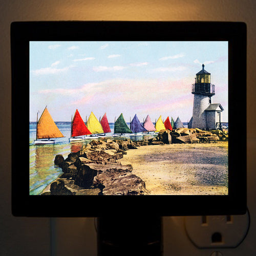 Nantucket Rainbow Fleet #1 Night Light - That Fabled Shore Home Decor