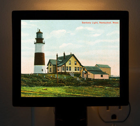 Nantucket - Sankaty Light (3) Night Light - That Fabled Shore Home Decor