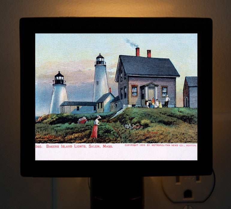 Salem - Bakers Island Lights Night Light - That Fabled Shore Home Decor