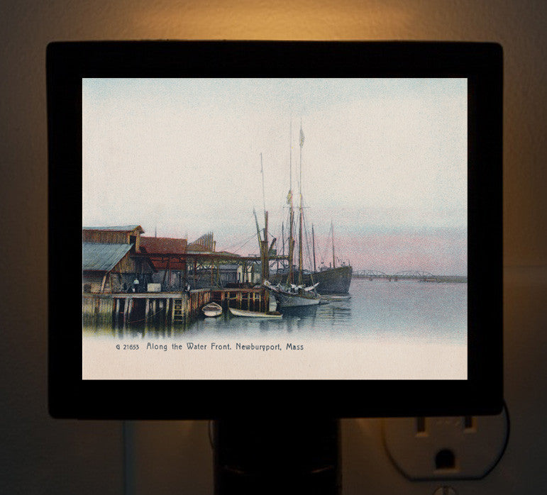 Newburyport - Along the Water Front Night Light - That Fabled Shore Home Decor