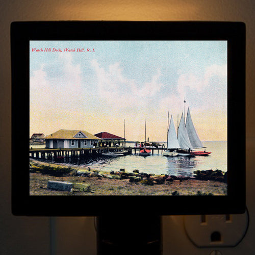 RI - Watch Hill Sailboats Night Light - That Fabled Shore Home Decor