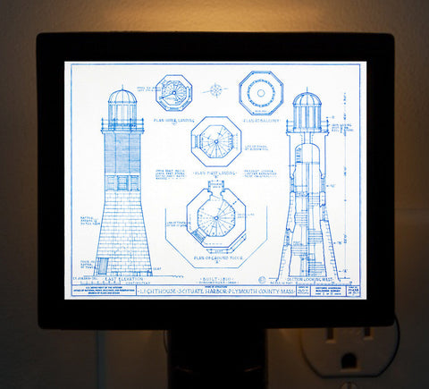 Scituate Harbor Light Blueprint Night Light