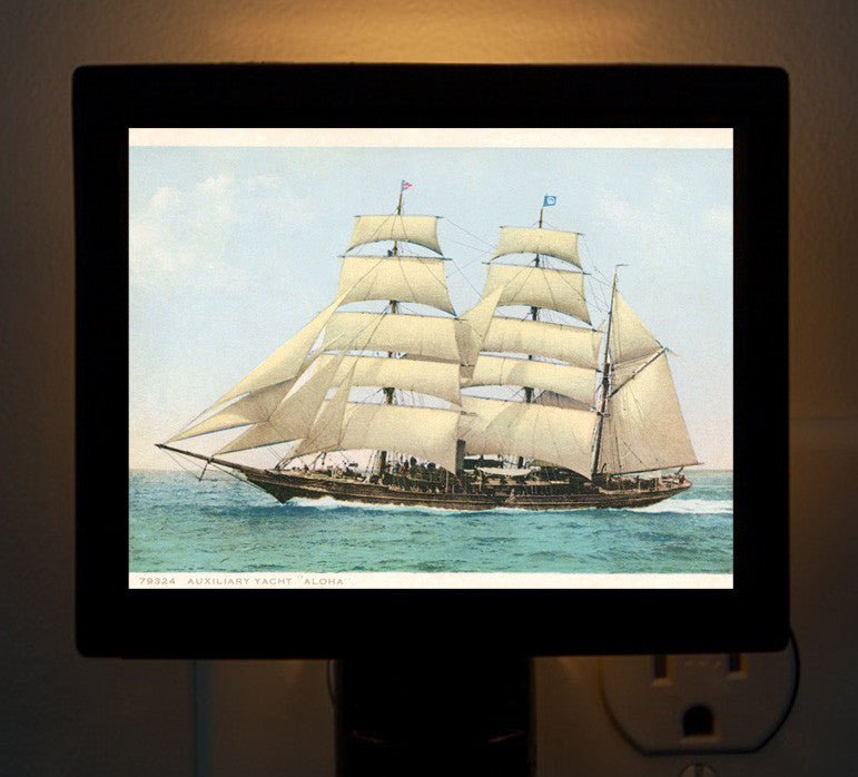 "Night Light - Auxillary Yacht ""Aloha"" - That Fabled Shore Home Decor"