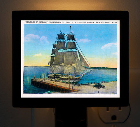 "Night Light Whaler ""Charles W. Morgan"" - That Fabled Shore Home Decor"