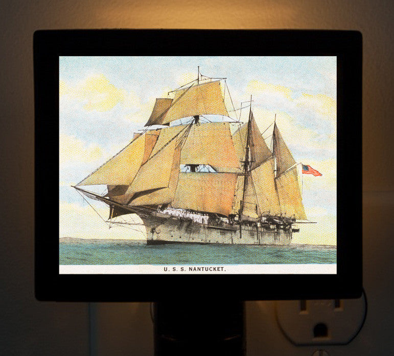 "Night Light - Sailing Ship ""USS Nantucket"" - That Fabled Shore Home Decor"