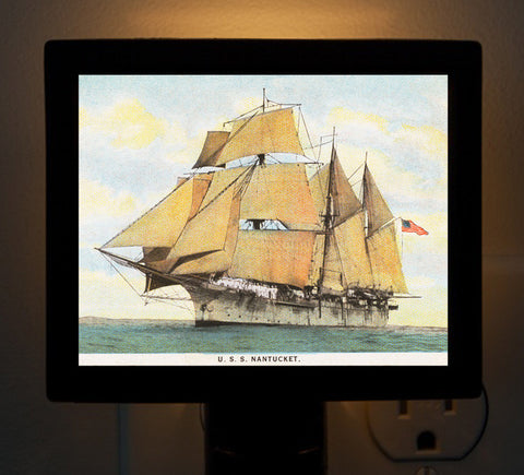 "Night Light - Sailing Ship ""USS Nantucket"""