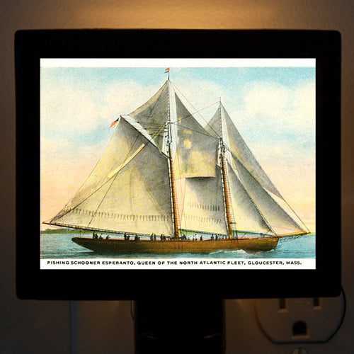 Esperanto - Fishing Schooner Night Light - That Fabled Shore Home Decor