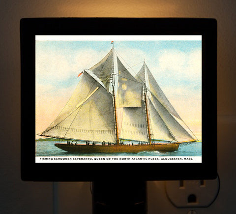 Esperanto - Fishing Schooner Night Light