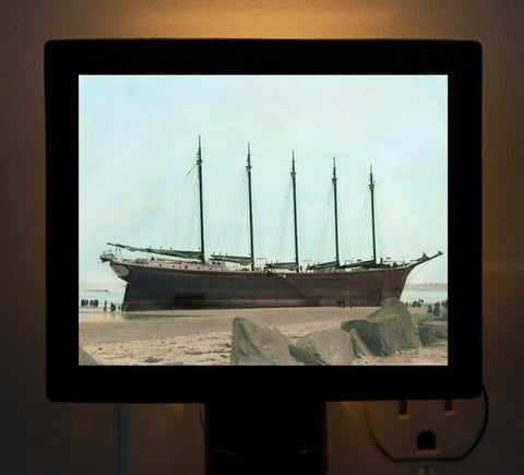 "Shipwreck of the Schooner ""Nancy"" Nantasket Beach Night Light"