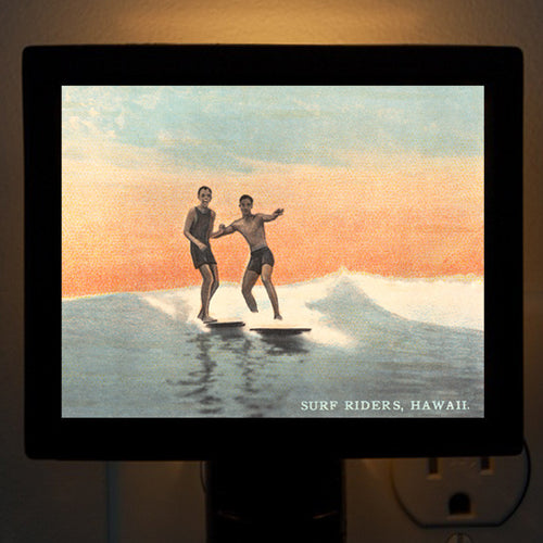 Hawaii - Early Surf Buddies Night Light - That Fabled Shore Home Decor