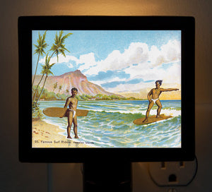 Hawaii - Famous Surfers Night Light - That Fabled Shore Home Decor