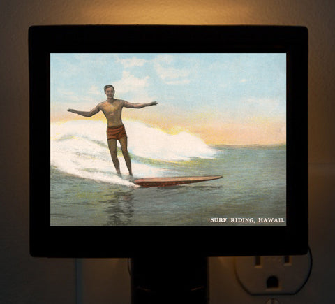 Hawaii - Surfing Pioneer Duke Kahanamoku Night Light - That Fabled Shore Home Decor