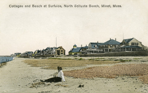 Scituate - Cottages Surfside Road Night Light - That Fabled Shore Home Decor