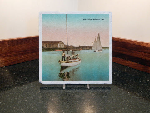 Marble Trivet Of Falmouth Harbor - That Fabled Shore Home Decor