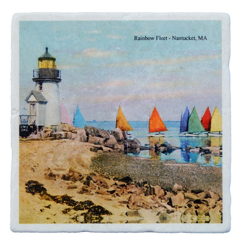 Marble Trivet Of Nantucket Rainbow Fleet