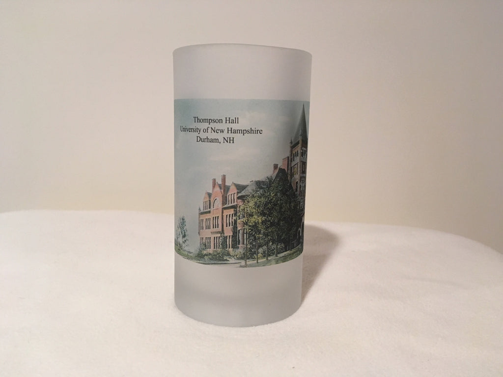 The University of New Hampshire Beer Mug Featuring Thompson Hall - That Fabled Shore Home Decor