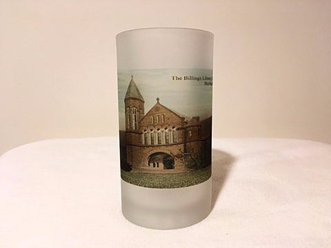 The University of Vermont Frosted Glass Beer Mug Featuring The Billings Library - That Fabled Shore Home Decor