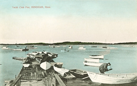 Hingham - Yacht Club Pier - That Fabled Shore Home Decor